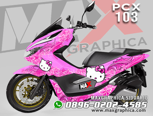sticker decal pcx 150 hello kitty